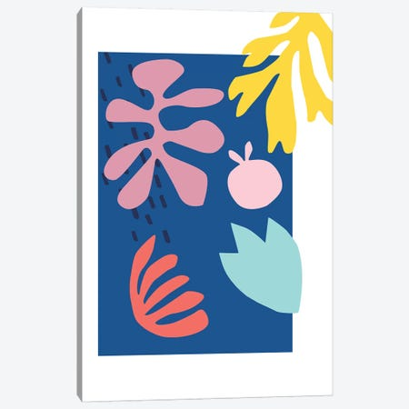 Blue Cut Out Canvas Print #RAB219} by Ruby and B Canvas Art Print