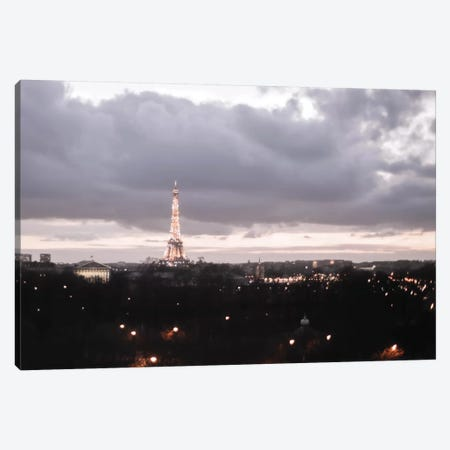 Paris Dusk Canvas Print #RAB223} by Ruby and B Canvas Artwork