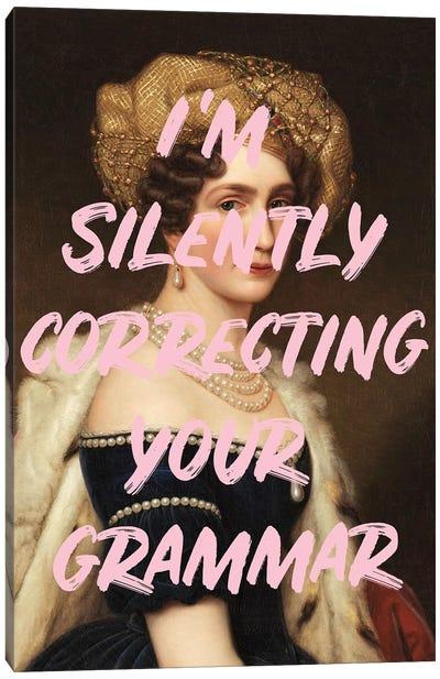 Grammar Queen Canvas Art Print