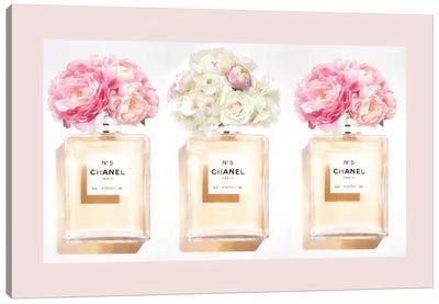 Blush Perfume Bottles Canvas Art Print