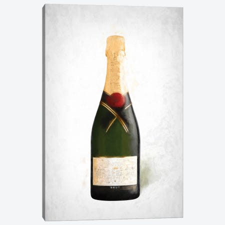 Champagne Painting Canvas Print #RAB240} by Ruby and B Canvas Art