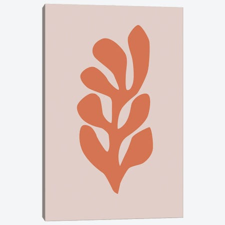 Leaf Cut-Out VI Canvas Print #RAB243} by Ruby and B Canvas Wall Art