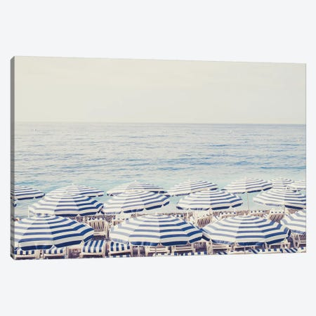 French Riviera Dreaming Canvas Print #RAB24} by Ruby and B Art Print