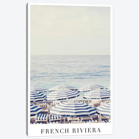 French Riviera Travel Canvas Print #RAB25} by Ruby and B Art Print