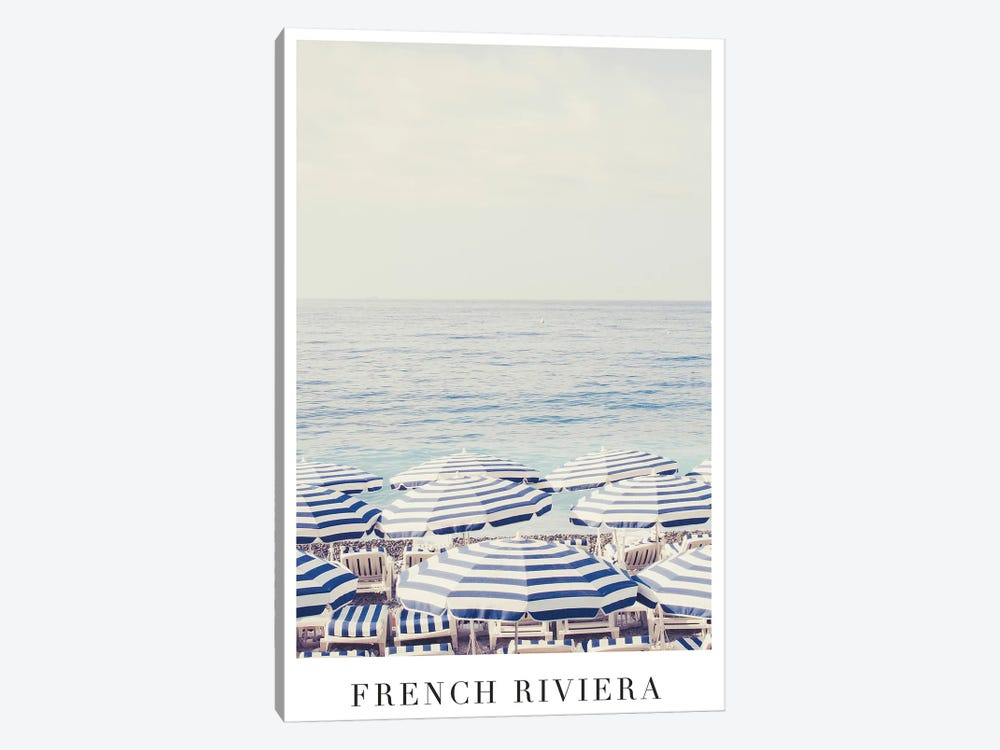 French Riviera Travel by Ruby and B 1-piece Canvas Print