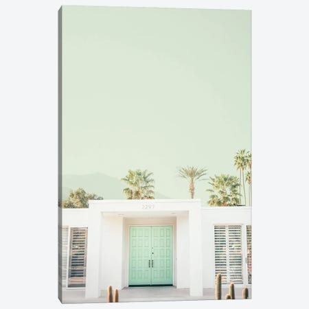 Mint Palm Springs Canvas Print #RAB260} by Ruby and B Canvas Wall Art