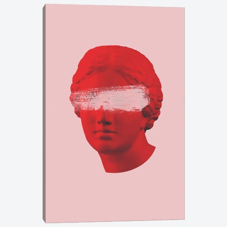 Venus Pink And Red Canvas Print #RAB263} by Ruby and B Canvas Artwork