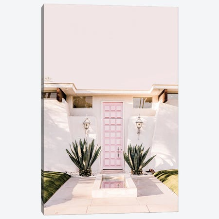 Pink Palm Springs Canvas Print #RAB266} by Ruby and B Canvas Print
