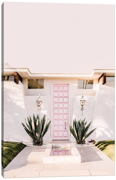 Pink Palm Springs Canvas Art Print