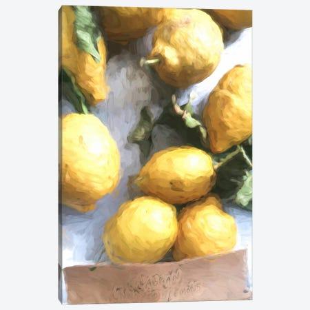 Lemon Painting II Canvas Print #RAB268} by Ruby and B Canvas Wall Art