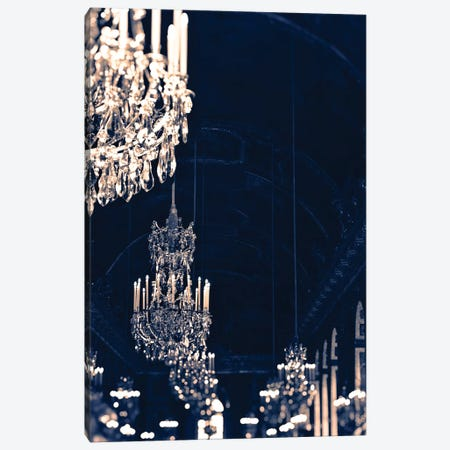 Gold Navy Chandelier Canvas Print #RAB27} by Ruby and B Canvas Art Print