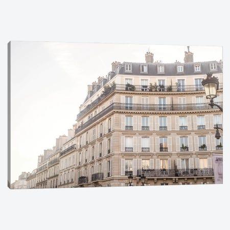 Paris Building Canvas Print #RAB284} by Ruby and B Art Print