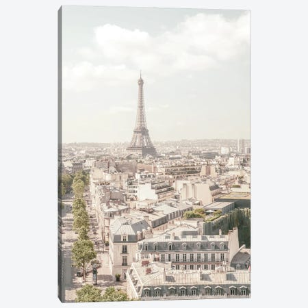 Paris Pastel Tones Canvas Print #RAB285} by Ruby and B Canvas Print