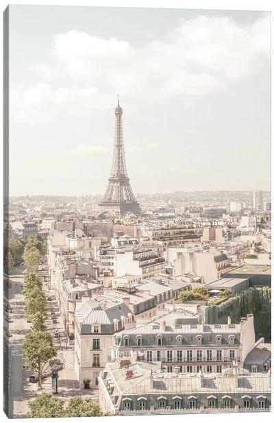 Paris Pastel Tones Canvas Art Print
