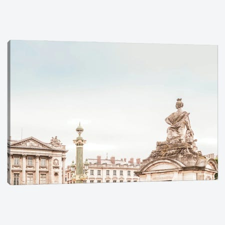Paris View Pastel Canvas Print #RAB286} by Ruby and B Art Print