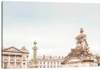 Paris View Pastel Canvas Art Print