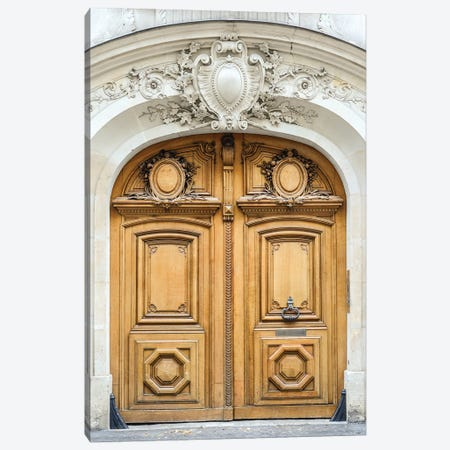 Paris Door Canvas Print #RAB295} by Ruby and B Canvas Wall Art