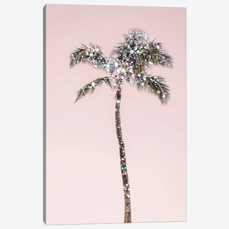 Glitter Palm Tree Canvas Print #RAB311} by Ruby and B Canvas Wall Art