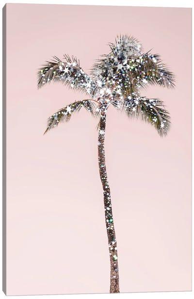 Glitter Palm Tree Canvas Art Print