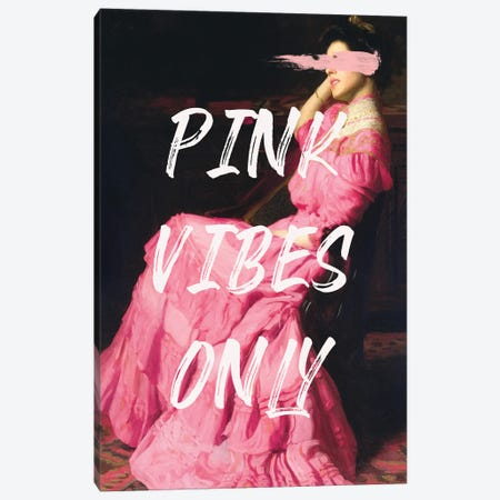 Pink Vibes Only III Canvas Print #RAB312} by Ruby and B Canvas Art
