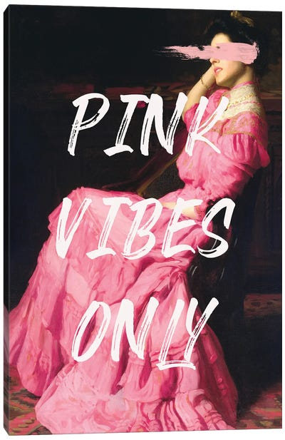 Pink Vibes Only III Canvas Art Print