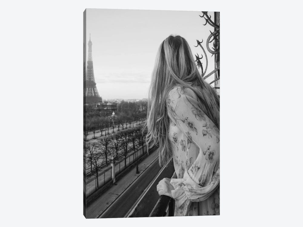 A Lady In Paris by Ruby and B 1-piece Canvas Print