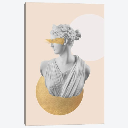 Gold Artemis Bust Canvas Print #RAB318} by Ruby and B Canvas Wall Art