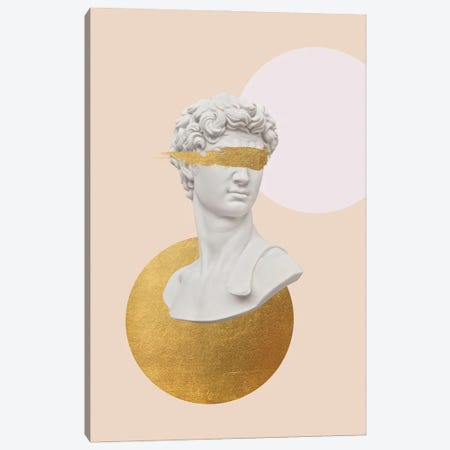 Gold David Bust Canvas Print #RAB319} by Ruby and B Canvas Art