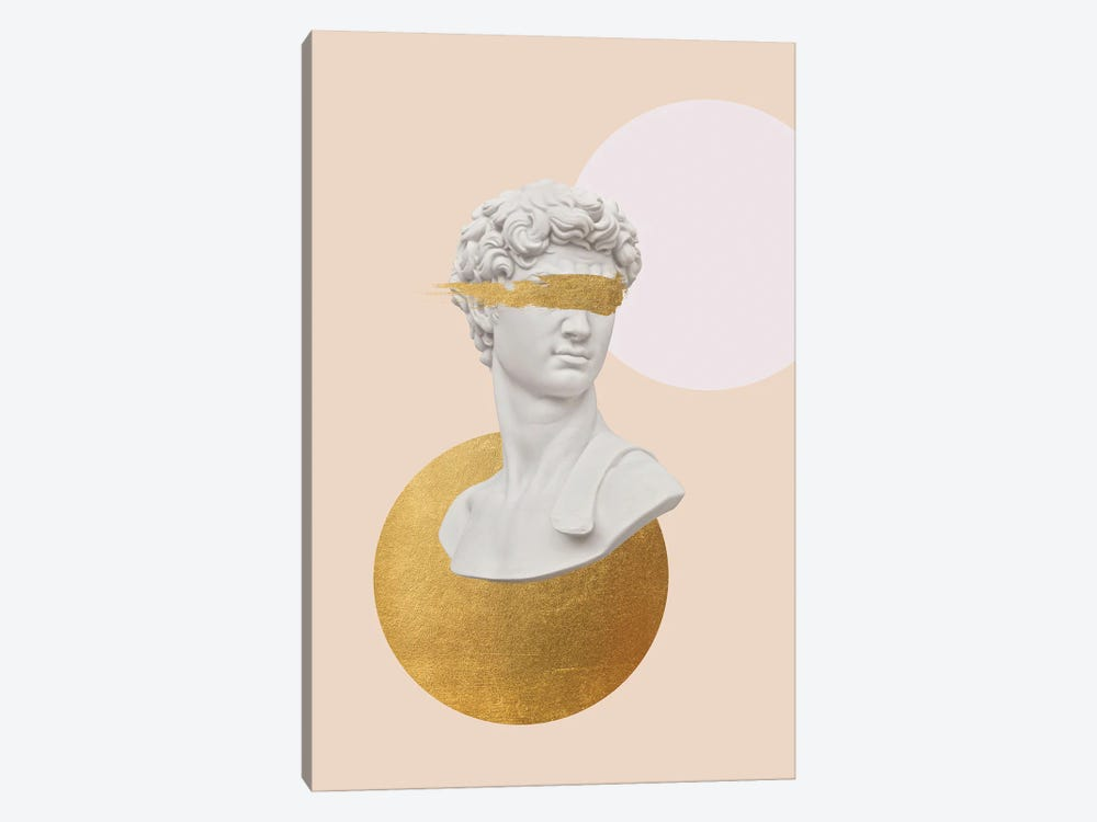 Gold David Bust by Ruby and B 1-piece Art Print
