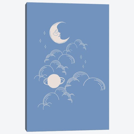 Blue Celestial Canvas Print #RAB335} by Ruby and B Art Print