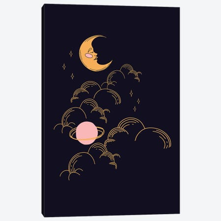 Moon And Stars Canvas Print #RAB337} by Ruby and B Canvas Art Print