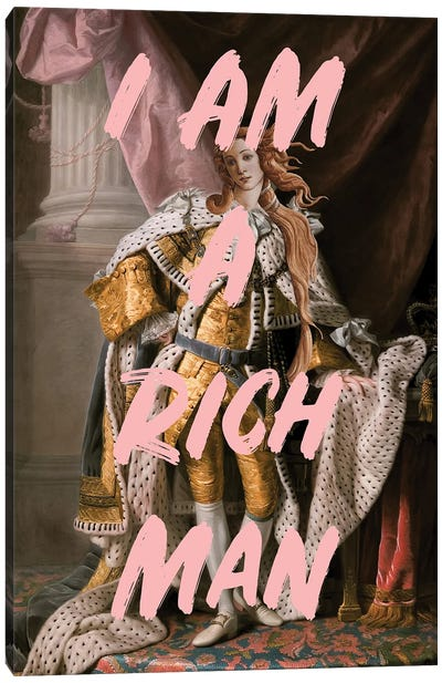 Rich Man Canvas Art Print