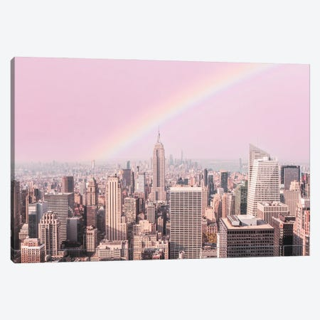 Rainbow Over New York Canvas Print #RAB344} by Ruby and B Canvas Art