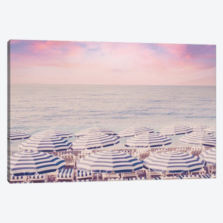 Pink Riviera Sunrise Canvas Print #RAB346} by Ruby and B Canvas Art