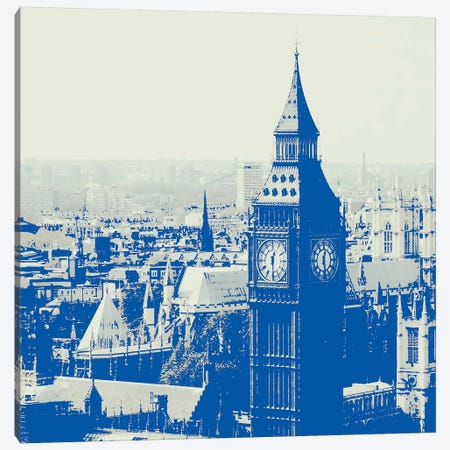 London In Blue Canvas Print #RAB34} by Ruby and B Canvas Art