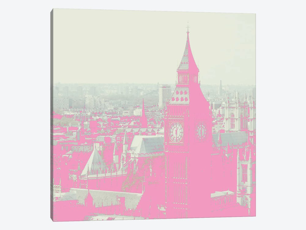 London In Pink by Ruby and B 1-piece Canvas Wall Art