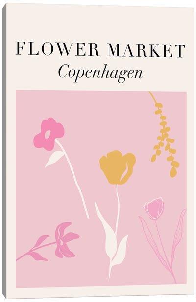 Copenhagen Flower Market Canvas Art Print