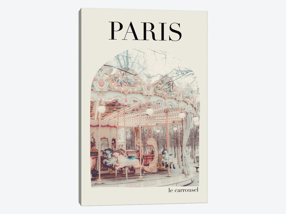 Paris Carousel - Arch by Ruby and B 1-piece Canvas Wall Art