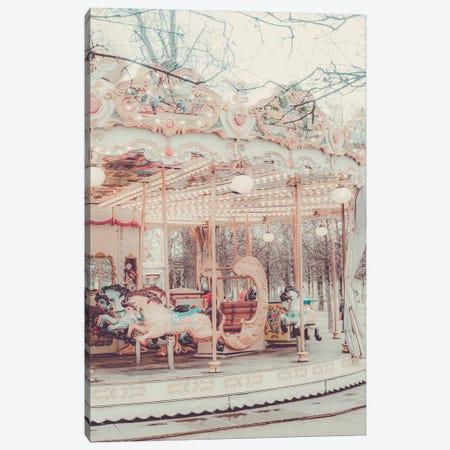 Paris Carousel Golden Canvas Print #RAB382} by Ruby and B Canvas Art Print