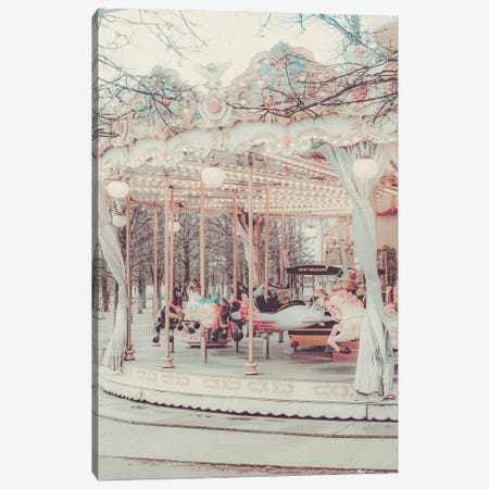 Paris Carousel Golden II Canvas Print #RAB383} by Ruby and B Canvas Print