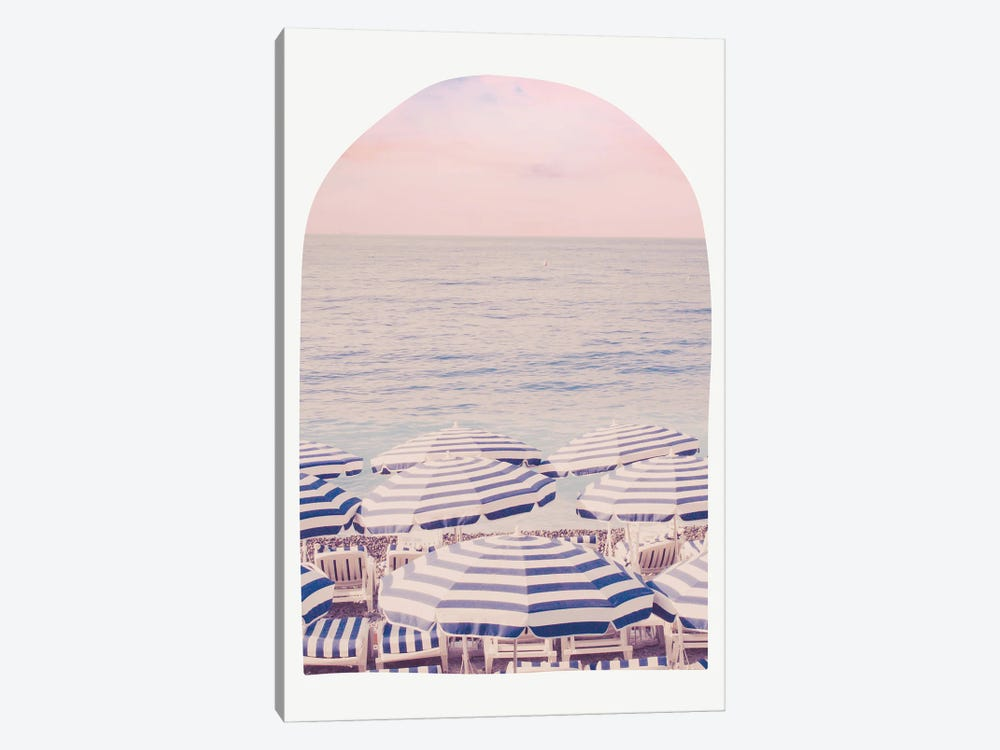 Pink Riviera Beach Arch by Ruby and B 1-piece Canvas Print