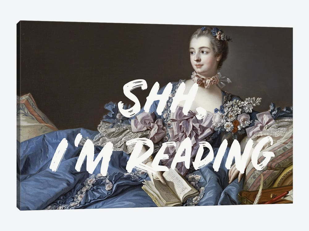 Shh, I'm Reading Altered Art by Ruby and B 1-piece Art Print