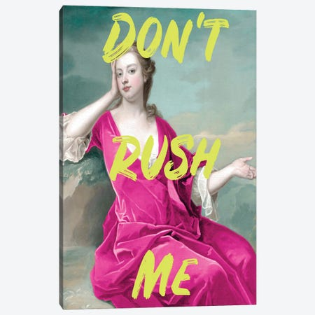 Don't Rush Me Duchess - Maximalist Neon Canvas Print #RAB399} by Ruby and B Canvas Artwork
