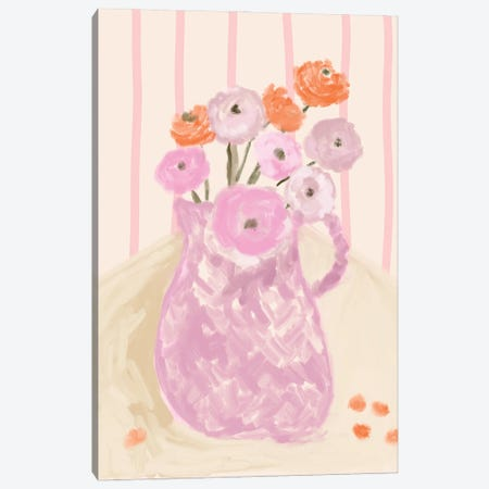 Still Life Floral Vase Canvas Print #RAB404} by Ruby and B Art Print