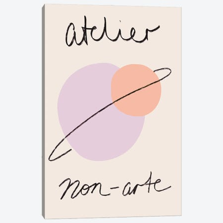Atelier Nordic Pastel Illustrated Exhibition Art Canvas Print #RAB433} by Ruby and B Art Print