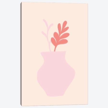 Pink Scandi Vase Canvas Print #RAB438} by Ruby and B Canvas Art Print