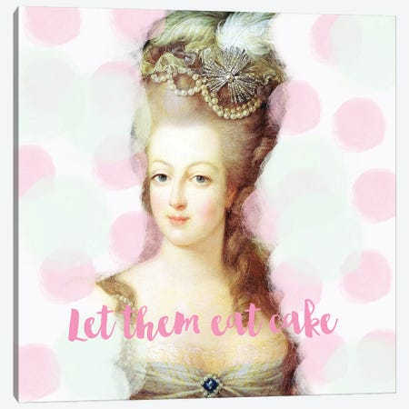 Marie Antoinette Mint Pink Canvas Print #RAB44} by Ruby and B Art Print
