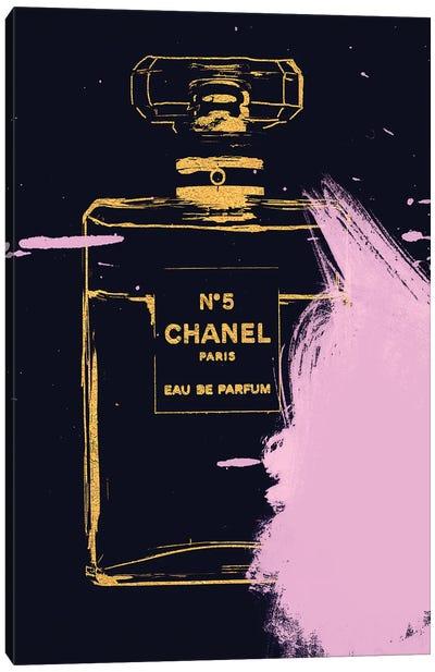 Splatter Perfume Bottle Canvas Art Print