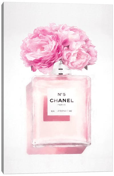 Soft Pink Perfume Bottle Canvas Art Print