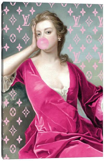 Hot Pink Fashion Duchess Canvas Art Print